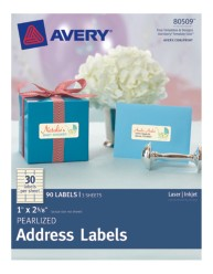 Avery® Pearlized Address Labels 80509, Packaging Image