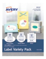 Avery® Print-to-the-Edge Label Variety Pack 80510, Packaging Image