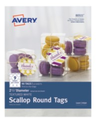 Avery Round Scallop Tags 80511