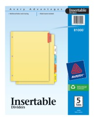 Avery® Insertable Dividers 81000, Packaging Image