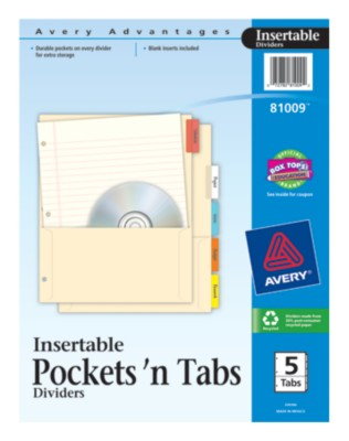 Insertable Tab Dividers 81009