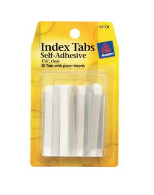 Index Tabs, Self Adhesive with Write-On Inserts 82001