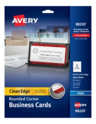 Avery Clean Edge Rounded Corner Business Cards 88220 Packaging Image