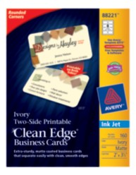 Avery Clean Edge Rounded Corner Business Cards 88221 Packaging Image