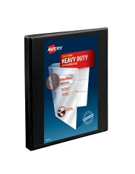 "Avery® Heavy-Duty Nonstick View Binder with 1/2"" Slant Rings 5233, Packaging Image"
