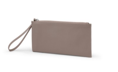 "MSHO Wristlet, 100% PVC, Small Horizontal Rectangle, 8.5""x4.5""x.75, Walnut Textured 6422"