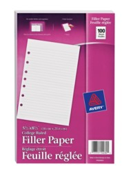 "Filler Paper for 5-1/2"" x 8-1/2"" Binders Packaging Image"