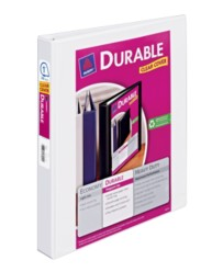 "Avery® Durable View Binder with 1"" Slant Rings 17012, Packaging Image"