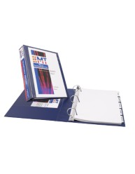 "Durable View 3"" Blue EZ -TURN BINDER"