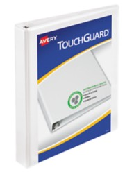 "Avery® Touchguard® Antimicrobial View Binder with 1"" Slant Rings 17141, Packaging Image"