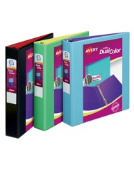 Avery Dual Color Dual View Binders Assoreted Colors 17210