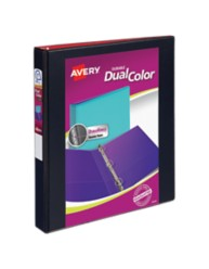 Avery Dual Color Durable View Binder, Black and Red 17216