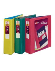 "Avery® Two-Tone Durable View Binder with 2"" Slant Rings 17236, Assorted, Packaging Image"