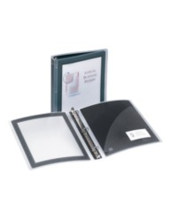 "Avery® Flexi-View™ 1-1/2"" Binder 17637, Black, Application Image"