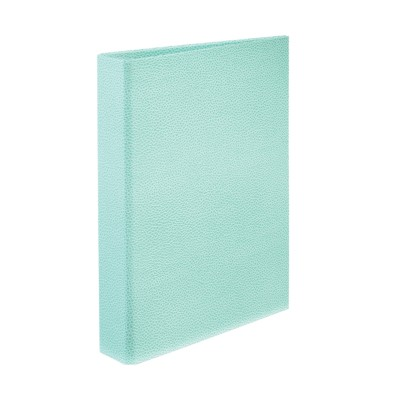 "MSHO Mini Cardboard Binder with 1"" Gap Free Round Ring Blue 18580"