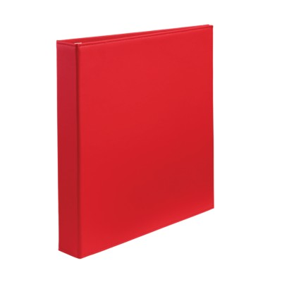 "MSHO Extra-Wide Polyurethane Binder with 1"" One Touch EZD Ring, Red 18584"