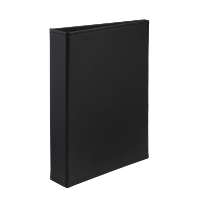 "MSHO Mini Polyurethane Binder with 1"" Gap Free Round Ring, Black 18591"