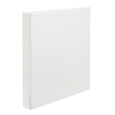 "MSHO Extra-Wide Cardboard Binder with 1"" One Touch EZD Ring White 18615"