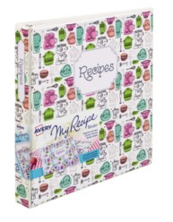 "Avery® My Recipe Binder with 1"" Slant Rings 19800, Packaging Image"