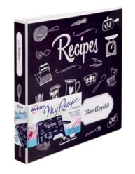 "Avery® My Recipe Binder with Extra Wide 1"" Slant Ring 19801, Packaging  Image"