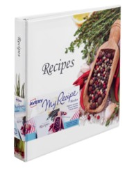 "Avery® My Recipe Binder with Extra Wide 1"" Slant Ring 19802, Application Image"