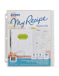 Avery&reg: My Recipe Binder Starter Kit 19915, Packaging Image
