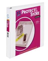 "Avery® Durable View Protect & Store™ Binder with 1"" Slant Rings 23000, Packaging Image"