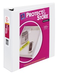 "Avery® Durable View Protect & Store™ Binder with 2"" Slant Rings 23002, Packaging Image"