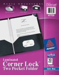 Corner Lock Two Pocket Folders