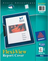 Flexi-View Presentation Report Covers with Swing Clip