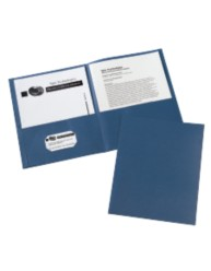 Unlaminated Two Pocket Folder 10PK Navy