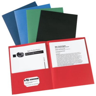 Unlaminated Two-Pocket Folder - Assorted 47993
