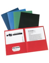 Unlaminated Two Pocket Folder 24PK Asst