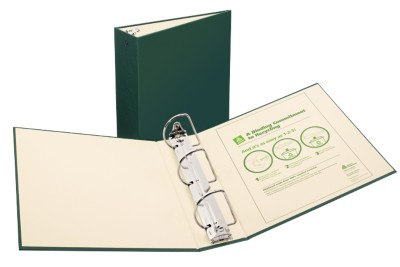 "Recyclable Bndr 3"" Green 50014"