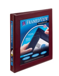"Avery® Framed View Binder with 1"" One Touch EZD™ Ring 68029, Packaging Image"