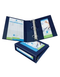 "Avery® Framed View Binder with 3"" One Touch EZD™ Rings 68038, Application Image"