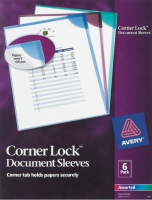 Corner Lock Document Sleeves 72262