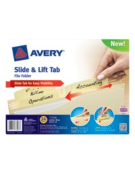 Avery® Slide & Lift Tab File Folder 73503, Packaging Image