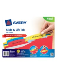 Avery® Slide & Lift Tab File Folder 73504, Packaging Image