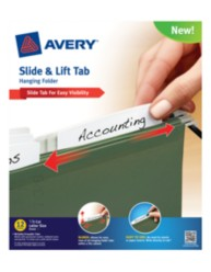 Avery® Slide & Lift Tab Hanging Folder 73505, Packaging Image