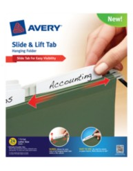 Avery® Slide & Lift Tab Hanging Folder 73506, Packaging Image
