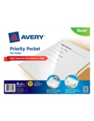 Avery®Priority Pocket File Folder 73509, Packaging Image