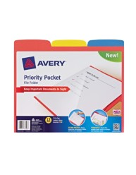 Avery® Priority Pocket File Folder 73510, Packaging Image