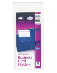 Self-Adhesive Business Card Holders