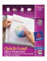 Quick Load Sheet Protectors 73803, Packaging Image