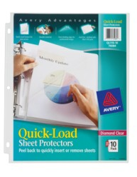 Quick Load Sheet Protectors
