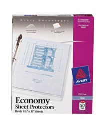 Economy Weight Sheet Protectors 74090, Packaging Image