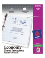 Economy Weight Sheet Protectors 74098, Packaging Image