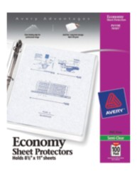Economy Weight Sheet Protectors 74101, Packaging Image