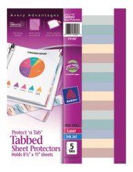 Tabbed Sheet Protectors 74160, Packaging Image